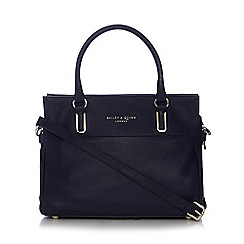 Bailey & Quinn - Navy 'Senna' leather large tote bag