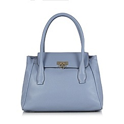 Bailey & Quinn - Light blue 'Heather' leather large grab bag