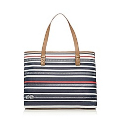 Bailey & Quinn - Cream leather rope striped tote bag