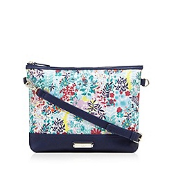 Bailey & Quinn - Navy floral clutch bag