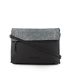 Todd Lynn/EDITION - Designer black leather stingray spotted cross body bag
