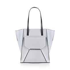 Todd Lynn/EDITION - Designer grey bar detail tall tote bag