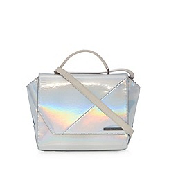 Todd Lynn/EDITION - Designer silver kitty iridescent satchel