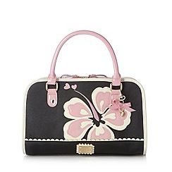 Floozie by Frost French - Black floral heart grab bag