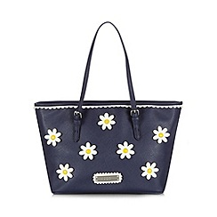 Floozie by Frost French - Navy daisy applique tote bag