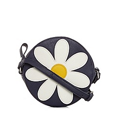 Floozie by Frost French - Navy daisy mini cross body bag