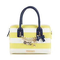 Floozie by Frost French - Light yellow striped nautical charm bowler bag