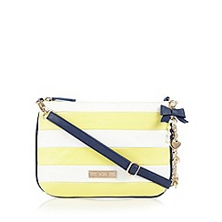Floozie by Frost French - Light yellow striped nautical charm cross body bag