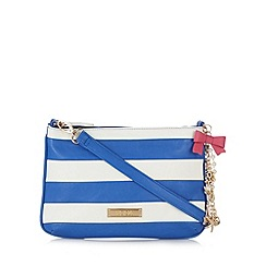 Floozie by Frost French - Blue striped nautical charm cross body bag