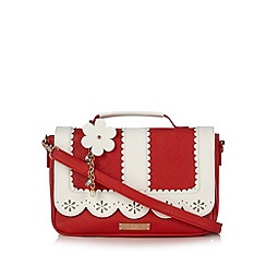 Floozie by Frost French - Red scalloped satchel bag