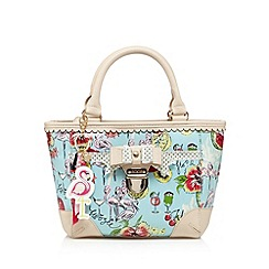 Floozie by Frost French - Aqua flamingo print grab bag