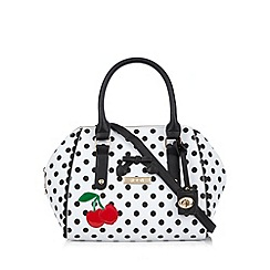Floozie by Frost French - White spotted cherry winged tote bag
