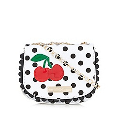 Floozie by Frost French - White spotted cherry saddle cross body bag
