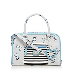 Floozie by Frost French - White floral boxy bowler bag