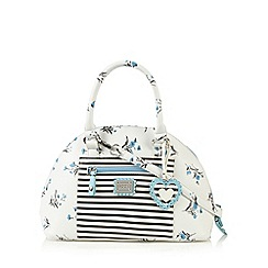 Floozie by Frost French - White floral domed tote bag