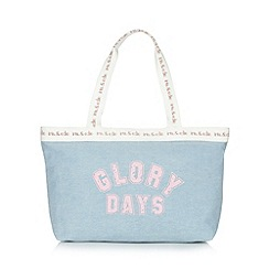 Iris & Edie - Light blue 'Glory Days' chambray shopper bag