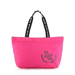 Iris & Edie - Pink canvas logo shopper bag