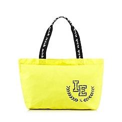 Iris & Edie - Bright yellow canvas logo shopper bag