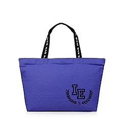 Iris & Edie - Purple canvas logo shopper bag