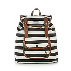 Iris & Edie - White striped rope backpack