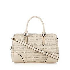Valentino - Beige logo grab bag
