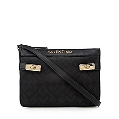 Valentino - Black logo print cross body bag