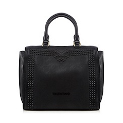 Valentino - Black studded logo grab bag