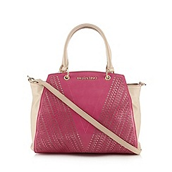 Valentino - Pink textured logo print shopper bag