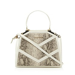 Valentino - White snakeskin chevron grab bag
