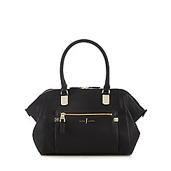 J by Jasper Conran - Designer black textured winged grab bag