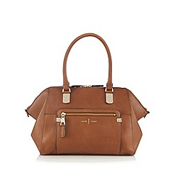 J by Jasper Conran - Designer tan textured winged grab bag