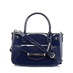 J by Jasper Conran - Designer navy patent bar tab small tote bag