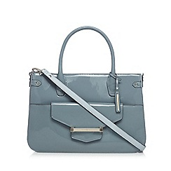 J by Jasper Conran - Designer light blue patent bar tab tote bag