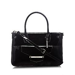 J by Jasper Conran - Designer black patent bar tab tote bag