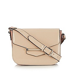 J by Jasper Conran - Light pink patent bar tab cross body bag