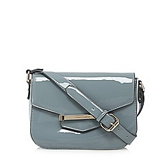 J by Jasper Conran - Designer light blue patent bar tab cross body bag