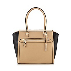 J by Jasper Conran - Designer natural colour block winged tote bag