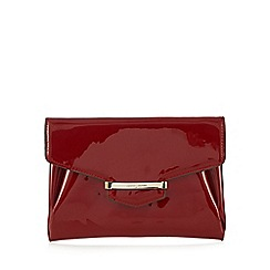 J by Jasper Conran - Red patent bar tab clutch bag