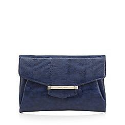 J by Jasper Conran - Designer navy patent texture clutch bag