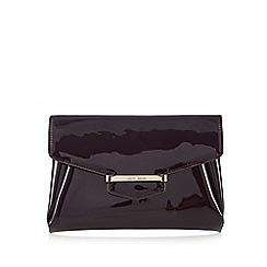 J by Jasper Conran - Purple patent bar tab clutch bag