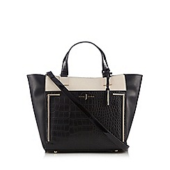 J by Jasper Conran - Designer black mock croc shopper bag