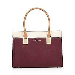 J by Jasper Conran - Dark red colour block tote bag