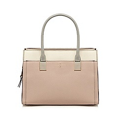 J by Jasper Conran - Pink textured rectangular grab bag