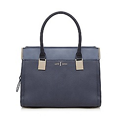 J by Jasper Conran - Navy textured rectangular grab bag