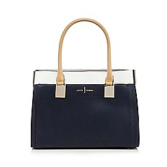 J by Jasper Conran - Blue grained colour block grab bag