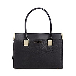J by Jasper Conran - Black textured rectangular grab bag