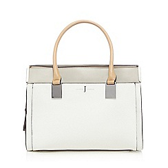 J by Jasper Conran - White colour block tote bag