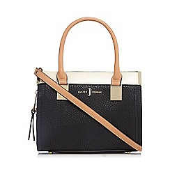 J by Jasper Conran - Black colour block small tote bag