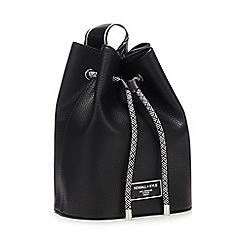 J by Jasper Conran - Black patent trim dome bag