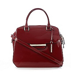 J by Jasper Conran - Red patent large dome bag